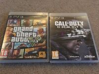 PS3 CALL OF DUTY 4modern warfare and ghosts. Games