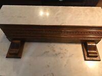 Solid wood mantel shelf