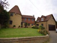 AN IMPOSING 4/5 BEDROOM DETACHED OAST HOUSE OWN GATED DRIVEWAY WITH FRONT AND REAR GARDENS