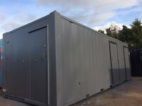 24 x 10ft 2+1+1Canteen/Drying Room/Anti Vandal Site Toilet/Portable Toilet Block For Sale.
