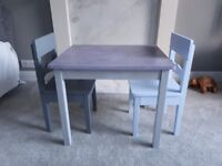 Wooden Childs Table with 2 x Chairs **HAND PAINTED**