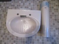 Basin and full pedestal - Armitage Shanks Honeymoon Tiffany - still in packaging - £10