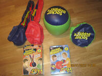 Two Wicked Socker Boppers Inflatable Boxing Pillows AND two Socker Swords