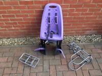 Yepp (Thule) Maxi bike seat (purple) with 2 Yepp Maxi Easyfit Carriers (standard & XL)