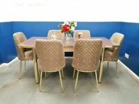 ⭐🌈END OF 2020 SALE⭐⭐ ON EXTENDABLE DINING TABLE AND 6 CHAIRS WITH DELIVERY OPTIONS
