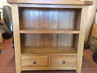 Solid oak bookshelf
