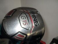 ping g15 driver an rescue golf clubs