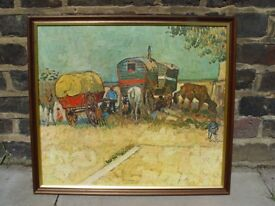 FREE DELIVERY Gypsy Camp Framed Print Vincent Van Gogh