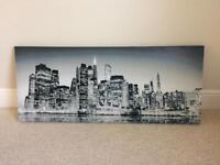 Canvas New York skyline