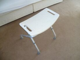 Easy Folding Travel , Portable Shower Stool - Bathroom Seat. Disability Aid. Good Condition