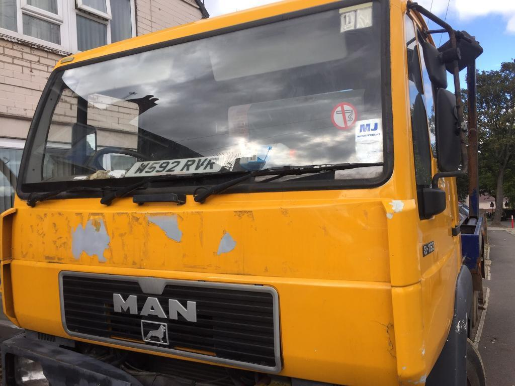 Man skip lorry 7.5 t OPEN TO OFFERS