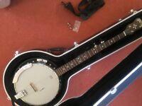 Grafton Clipper #2 Resonator 5-string banjo with Gator hard case & Shubb FS capo