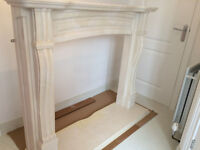 Conglomerate marble fire surround and hearth - *REDUCED*