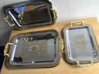 Vintage luxury brand new set of 3 serving trays