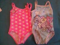 2x age 1-2 girls swimming costumes