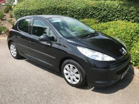 PEUGEOT 207 1.6 HDi S NEW M.O.T. - FSH (6 STAMPS) - £30 ROAD TAX & 55 MPG PLUS !!