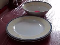 Large plates, large serving dishes