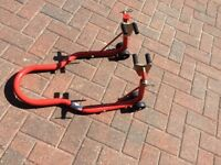 Motor cycle front paddock stand/lift