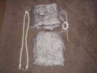 Handmade Material Lined Curtains with Accessories tie backs and wire