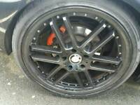 """Good condition 19""""dish alloys with 4 brand new tyres.."""