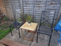 2x Metal Garden Chairs