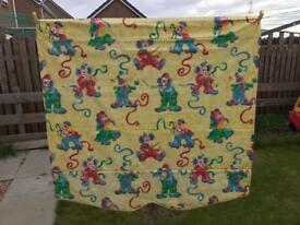 Lovely clown print blind for child's bedroom