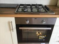 Unused Zanussi electric fan oven and gas hob