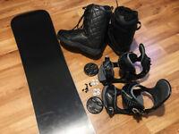 Snowboard Set AIRTRACKS Board+Binding+Boots+Bag