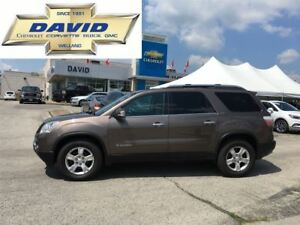 2008 GMC Acadia SLT1 FWD, LEATHER, REMOTE START, LOCAL TRADE!!!