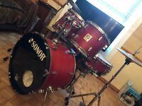 5 Piece Sonor 2001 Drum Kit + Extras