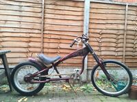 Chopper style low rider cruiser bike bicycle - vintage, retro, americana, Christmas
