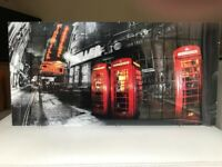 A set of 3 London prints on perspex.