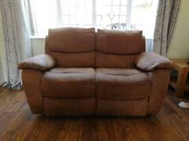 Brown 3 & 2 seater reclining sofa