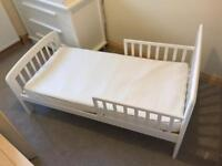 John Lewis Anna Toddler Bed, mattress and protector