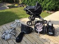 Quinny Speedi 3 in 1 travel system with isofix and rain covers