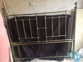 Antique Brass Headboard for King sized bed.