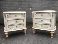STUNNING FRENCH BEDSIDE TABLES/SIDE TABLES FREE DELIVERY