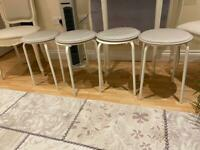 4 IKEA STOOLS with chair PADS (delivery)