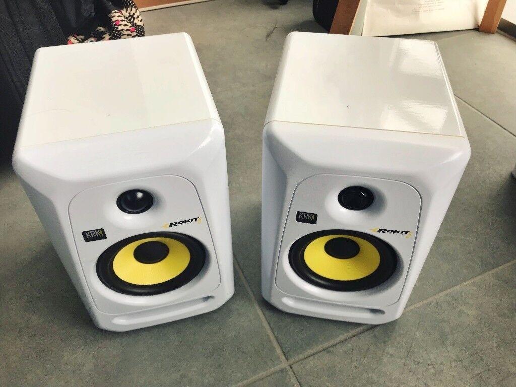 krk rokit 5 g3 se studio monitor speaker white in isle of dogs london gumtree. Black Bedroom Furniture Sets. Home Design Ideas