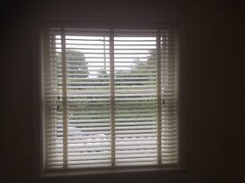 Cream Blinds - Venetian real wooden blinds x 2 50mm slats with tapes