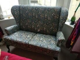 2 seater sofa with guitar pattern for sale