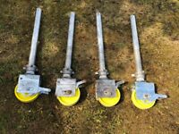 Boss Youngman Scaffold Tower Legs & castors Revvo set of Four