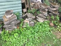 FREE lots of garden slab pieces
