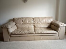 2 Leather Sofas, 3 and 2 seat sofa - very comfy, will sell individually and can deliver
