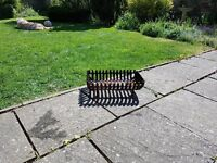 Cast iron log basket/grate