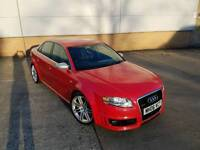 2006 AUDI RS4 4.2 QUATTRO V8 MANUAL SALOON RED LOW MILEAGE BUCKET SEATS HPI CLEAR