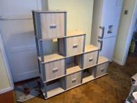 Multi cube storage shelf