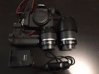 Canon 700D camera 18-55 and 55-250 lens for sale, like new condition, lot of extras