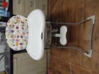 Graco Baby Boy And Girl High Chair With Removable Tray