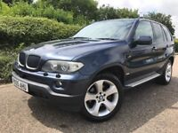 2005 BMW X5 SPORT 3.0 DIESEL AUTO + BLK LEATHER + SAT NAV + HISTORY